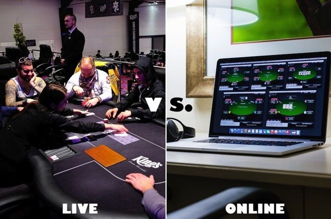 Difference between Online Poker and Live Poker